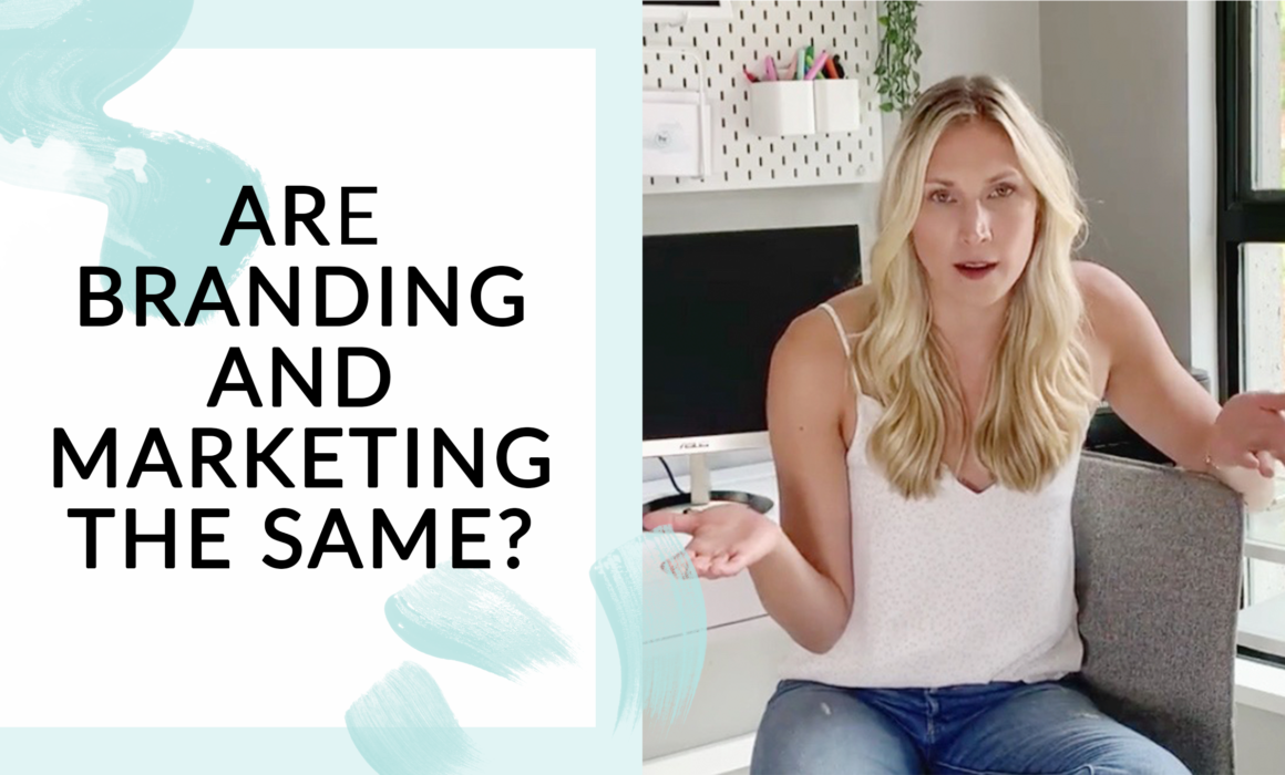 """Thumbnail for """"Are branding and marketing the same thing?"""" video"""