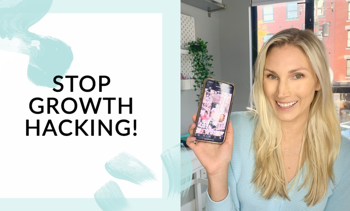 Stop Instagram growth hacking